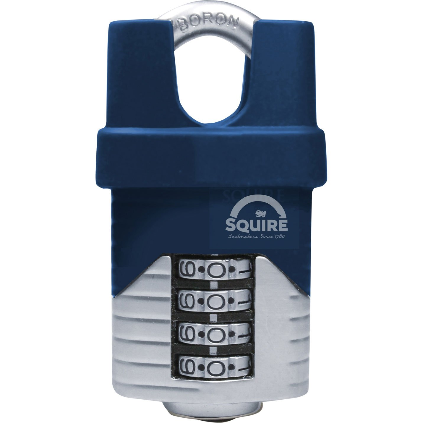 Henry Squire Vulcan 4 Wheel Closed Shackle Combination Padlock, 50 mm Length Henry Squire & Sons Ltd. VULCAN COMBI 50CS