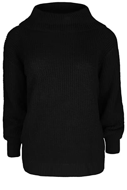 af269dd22 Womens Ladies Chunky Knit Knitted Pullover Long Sleeve Oversized ...