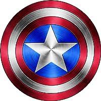 Sticker Vinyl Captain America Shield Logo Comic Superhero Premium Quality Decals Indoor/Outdoor Use for Car Bumper…