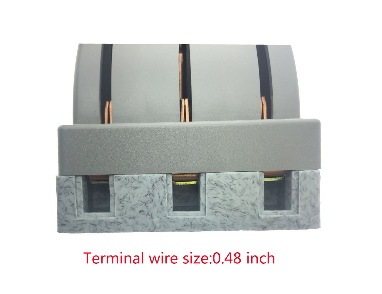 YXQ 380V 100A 3 Pole Double Throw Power Supply Safety Control Knife Switch Gray by YXQ (Image #5)