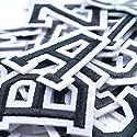 Liebe Engel26個入れ 黒白A-Z 刺繍ワッペン アイロン接着アルファベット 服 組み合わせ バッジ シールの商品画像