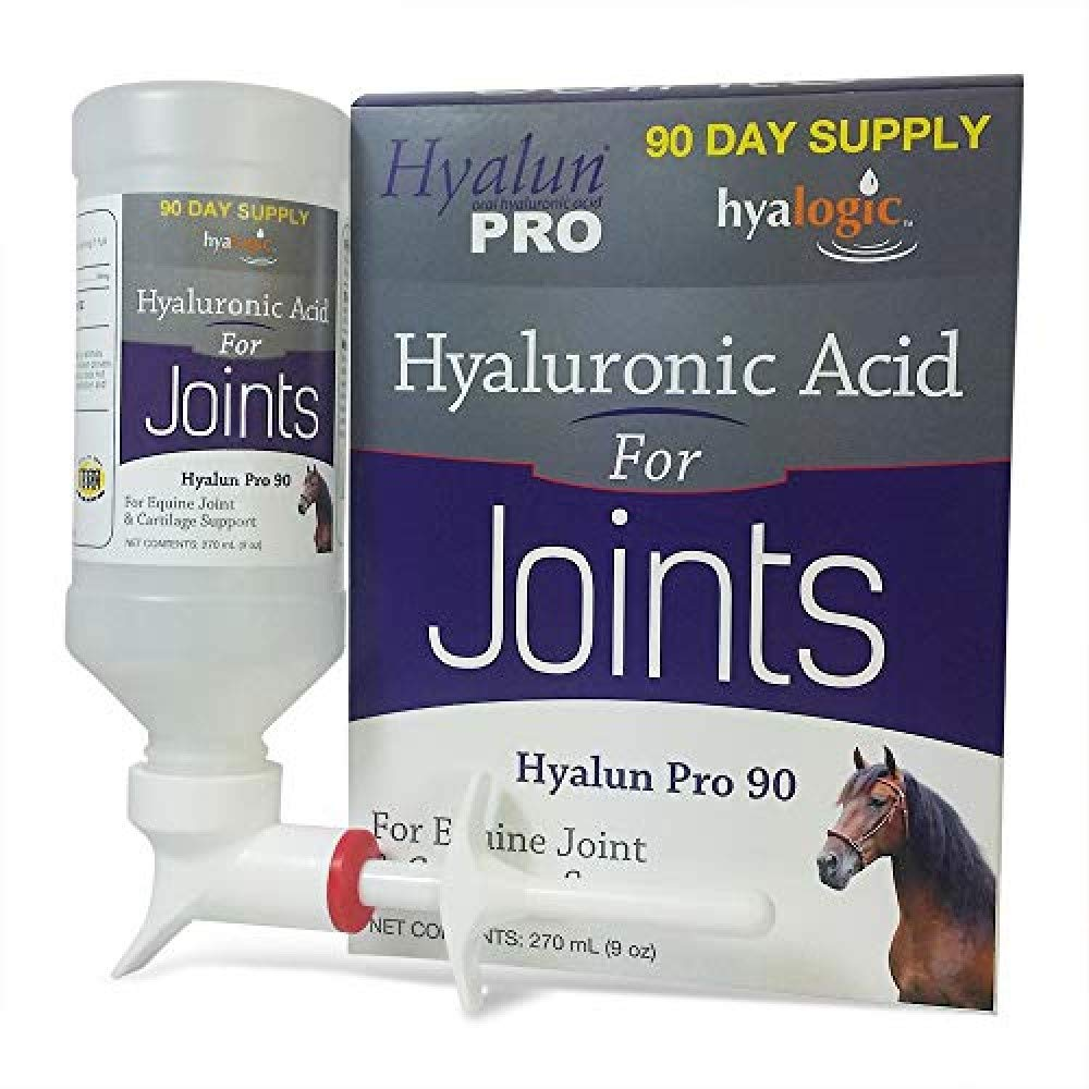 Hyalogic Hyaluronic Acid Horse Joint Supplement-Pure Hyaluronic Acid (HA) Equine Joint Supplement & Cartilage Care- Available as 30 and 90 Day Supplment, Horse Muscle Rub and Gel (Equine Syringe Oral) by Hyalogic