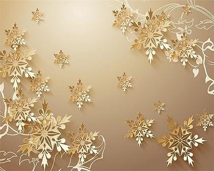 Fiocchi Di Neve Di Carta Fai Da Te : Lqwx wallpaper per pareti d d taglio carta oro fiocchi di neve