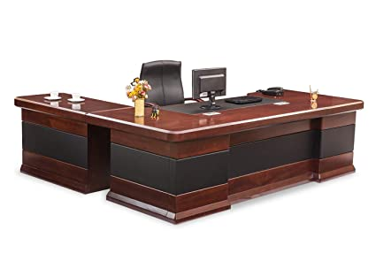 Durian Contemporary Office Desks Engineered Wood (Cherry, Red)