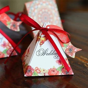 WI Caja de dulces de pirámide floral, papel de flores de primavera ...