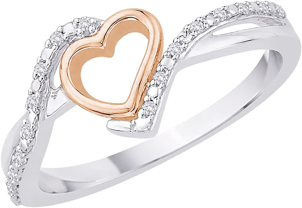 G-H,I2-I3 1//5 cttw, Diamond Wedding Band in Sterling Silver Size-7.25