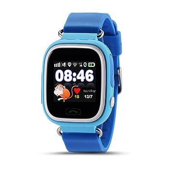 Q90 Reloj Inteligente Ni?os SOS Despertador GPS WIFI Bluetooth Anti-perdida Tarjeta SIM