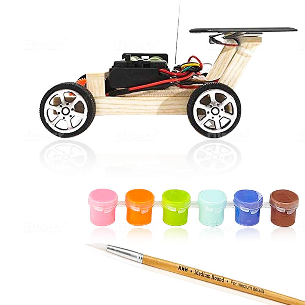 Remote Control Car Educational Toy Solar Powered Wooden Cars Circuit Science Robotics Engineering Stem Toys for Boys and Girls DIY Experiment by Shirox
