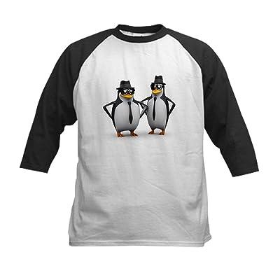Truly Teague Kids Baseball Jersey Cool Penguins - Black/White, Medium (10-12)