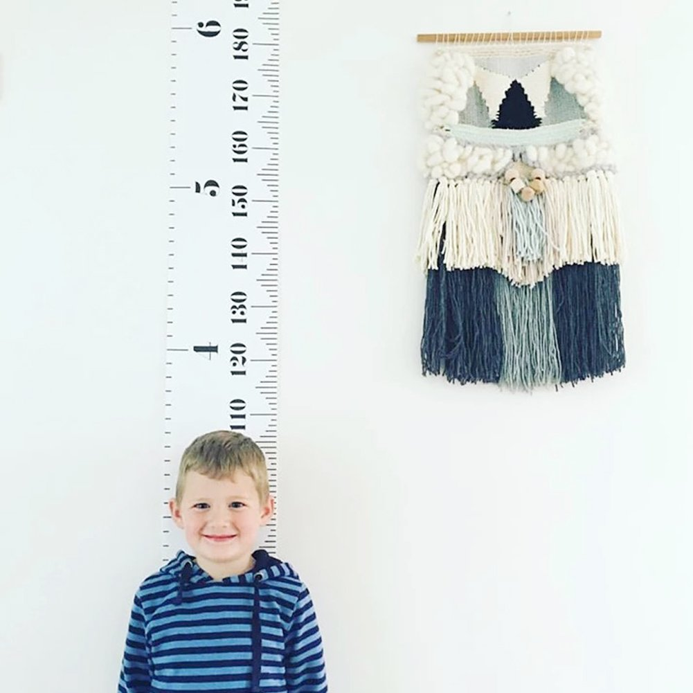 Olpchee Wall Hanging Canvas Growth Chart Roll Up Height Chart Ruler Wall Decor Photography Props for Baby Kids by Olpchee (Image #3)
