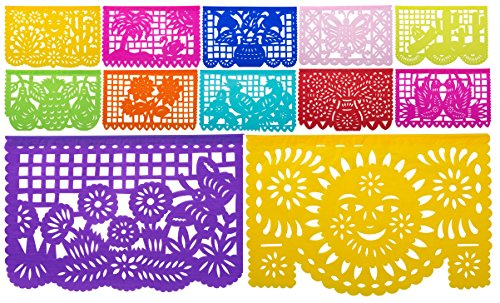 Beautiful Mexican Tissue Papel Picado Banner