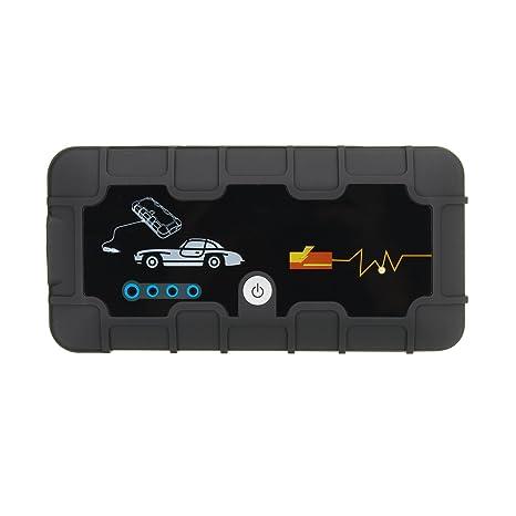 GOZAR 12V 12000Mah Coche Portátil Jump Starter Pack Booster Cargador Batería Banco De Energía: Amazon.es: Hogar