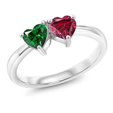 40b59d27f 925 Silver Fashion Right-Hand Ring 5mm Set with Green Zirconia from  Swarovski (Size