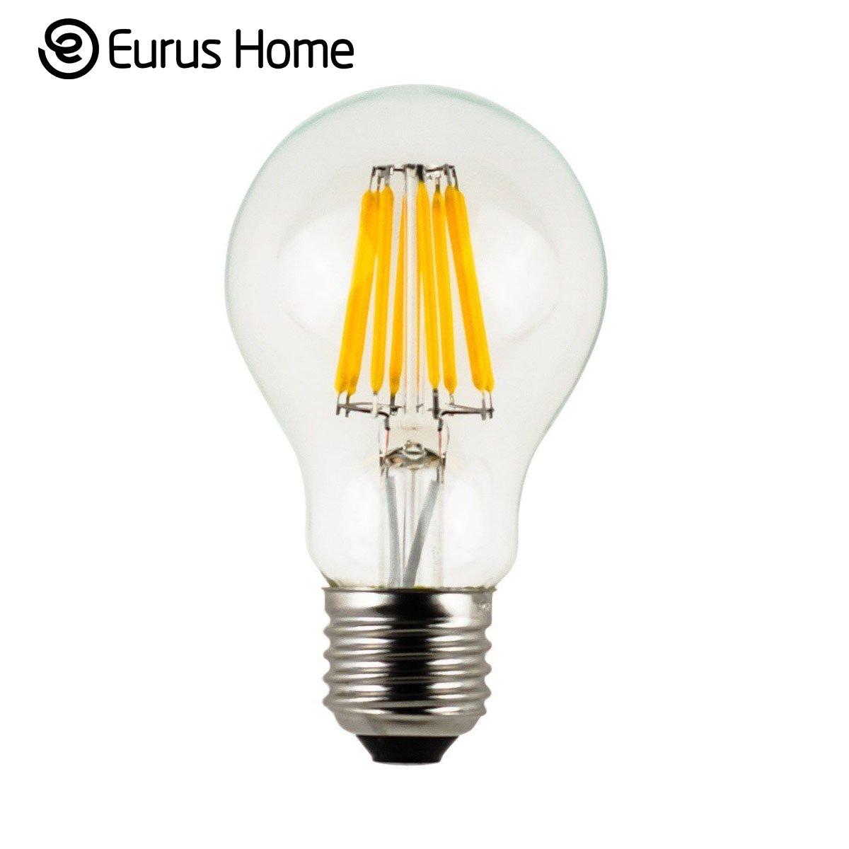 Vintage edison bulb old fashioned lamp classic a60 led 2w or 4w - Eurus Home Vintage Led Filament Bulb A19 8w Led Light Bulb Medium Screw E26 Base Clear Soft White 2700k Led Edison Bulb 75w Equivalent 120vac