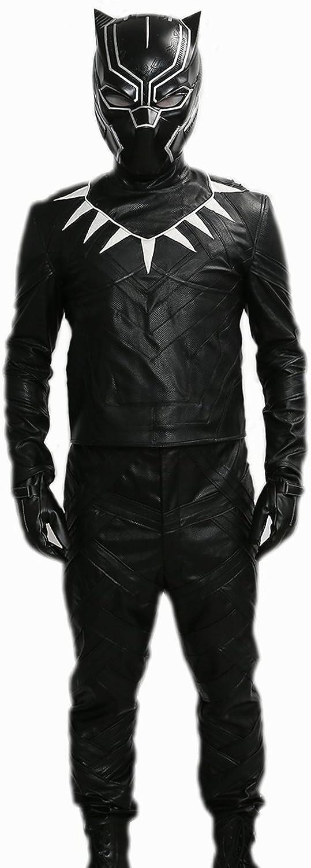 Xcoser Black Panther disfraz Outfit para hombre piel sintética de ...