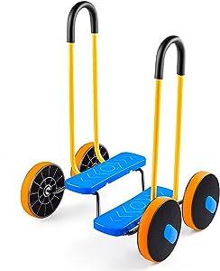 Hchao Balancing Pedal Prop,Children's Indoor Sports Pedal Car,Home Balance Training Equipment,Vestibular Sensory Training, Step Fun, Foam Jumper for 2-12 Year Old Girls