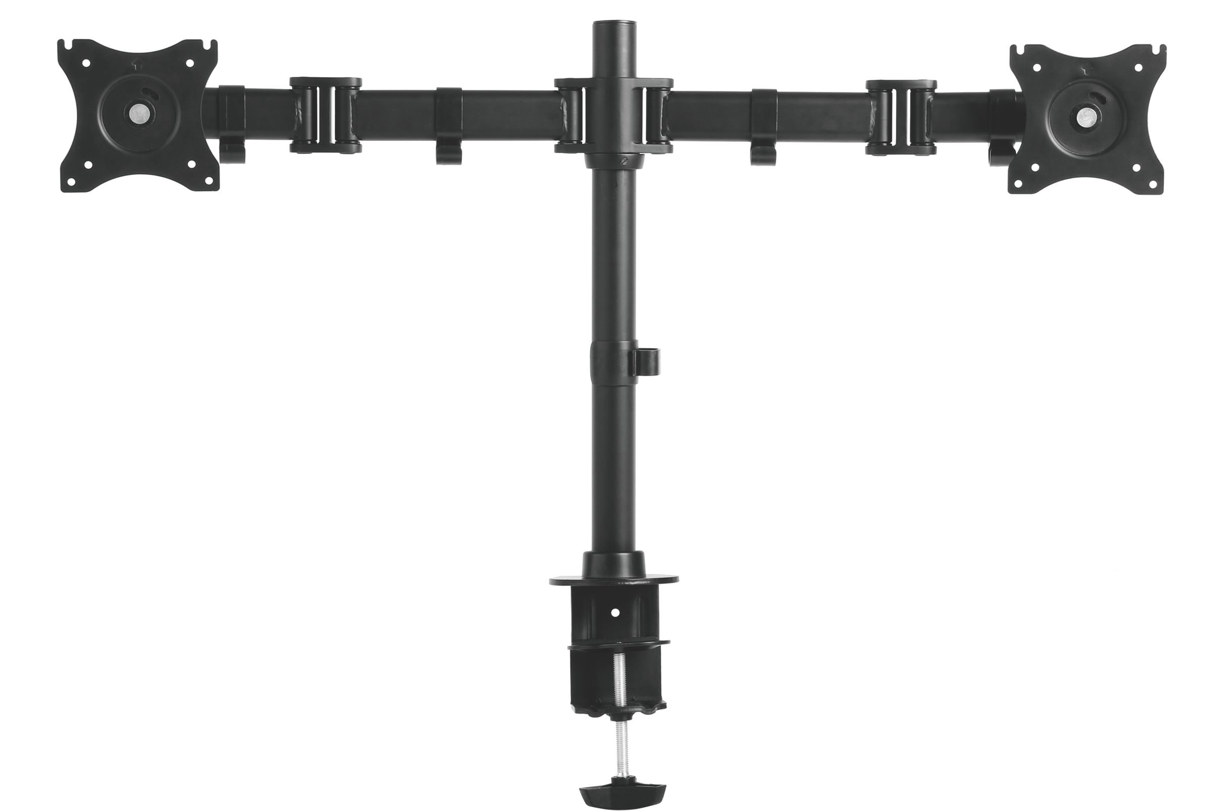Kantek Height Adjustable Articulating Monitor Arm for Dual Monitors, Black (MA220)