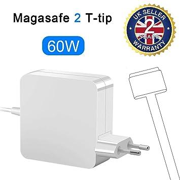 Opluz Compatible Cargador MacBook Pro 60w Adaptador de Corriente MagSafe 2 de Cargador Forma de T Adaptador de Magnético de Reemplazo Cargador para ...