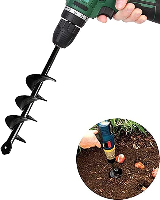 Planting Auger Spiral Hole Drill Bit For Garden Yard Earth Bulb Planter Non-slip