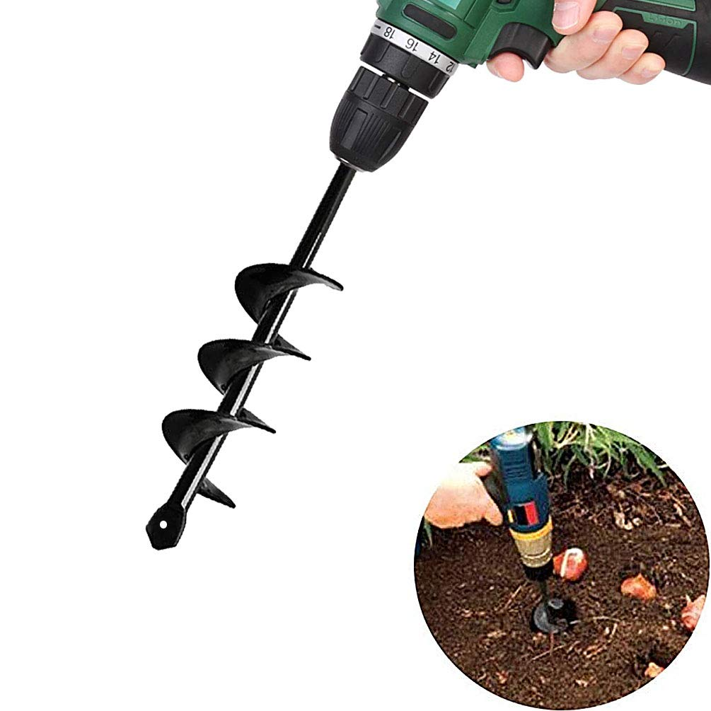SuperThinker Auger Drill Bit, Garden Plant Flower Bulb Auger Rapid Planter for Planting Bulb Seedlings&Bedding Plant Auger for 3/8'' Hex Drive Drill Earth Auger Drill Fence Post Umbrella Hole Digger by SuperThinker