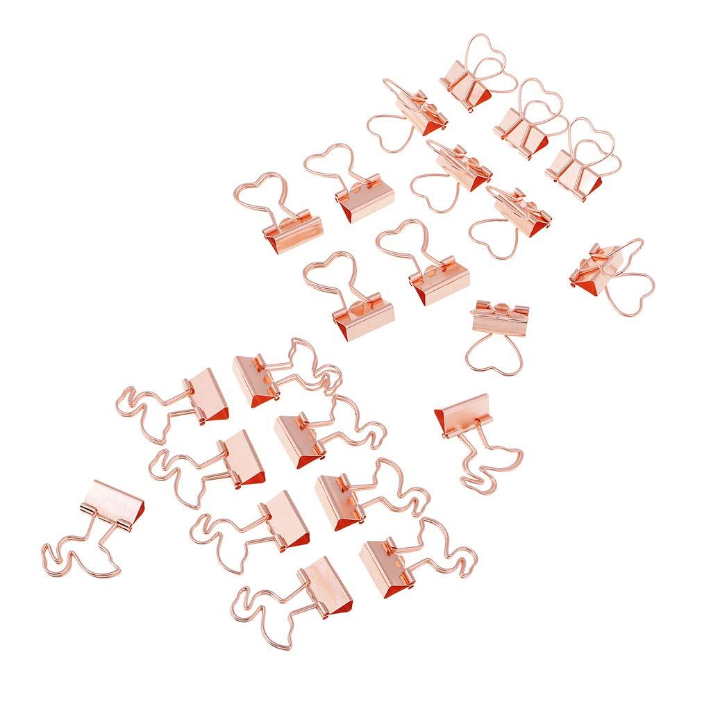 Fenteer 22 St/ück Metall Foldback Binder Clips Schule B/üro B/üroklammern