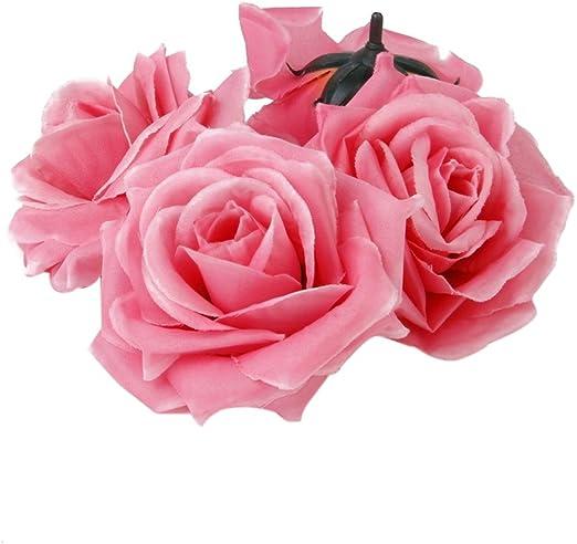 20pcs Künstliche Rosen Blumen Köpfe Rosenköpfe Rosenblüten Kunstblumen