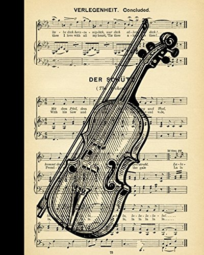 I Love My Violin: Vintage Songwriting Book with blank Sheet Music for your ()