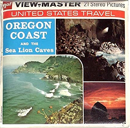 View-Master Sea Lion Caves and The Oregon Coast 3D 3 Reel Set