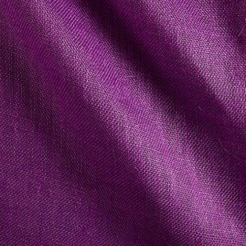 James Thompson & Co. 60in Sultana Burlap Purple Fabric by The Yard, -