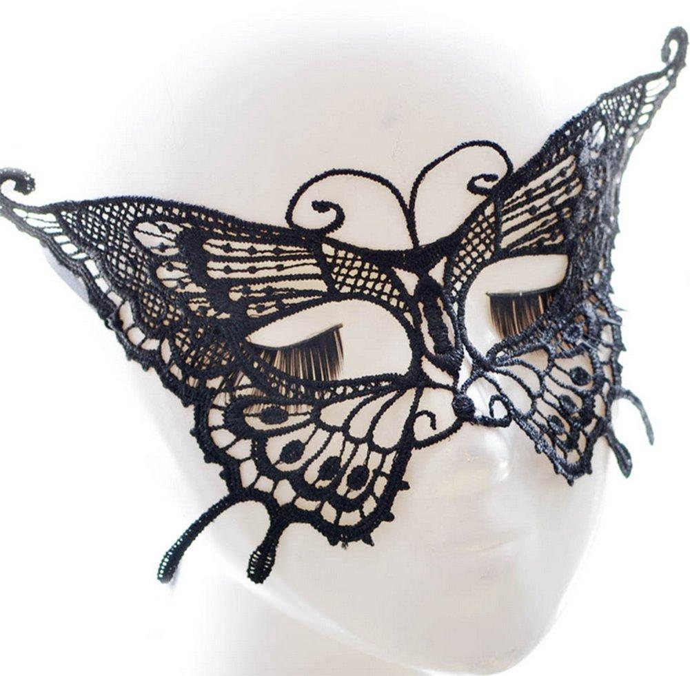 Mariposa Negra en Forma de l/ágrima Emorias 1pc Venecia M/áscara de Ojos M/áscara de Disfraces de Halloween M/áscara de Disfraces de cCarnaval m/áscara misteriosa