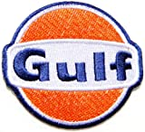 Gulf Motor Oil Gasoline Gas Station Pump Racing Biker Motogp Motorcorss Logo Jacket Patch Sew Iron on Embroidered Symbol Badge Cloth Sign By Prinya Shop