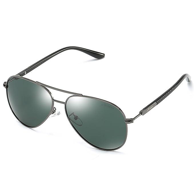 b5d9311bbe Aloyse Polarized Aviator Metal Frame Sunglasses for Men Women Driving  Fishing Cycling Outdoor Glasses - UV