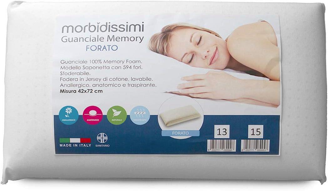 Morbidissimi Guanciale Memory Foam MOD Forato V747 Spessore 13 cm
