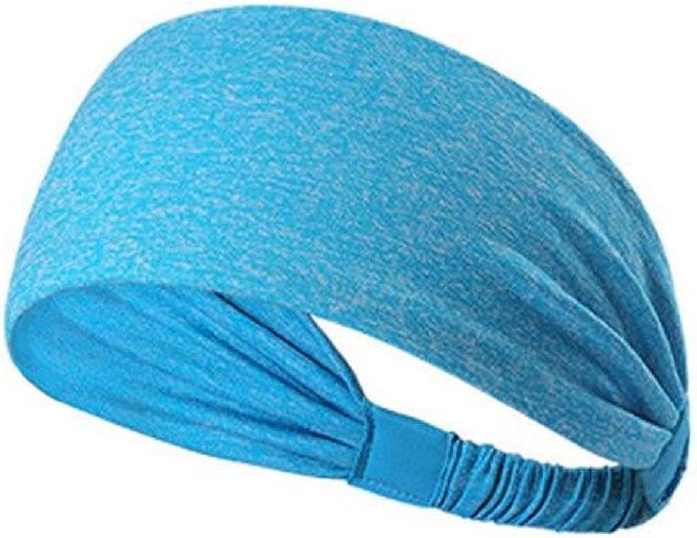 Banda para el cabello Deportiva Elástico, Holacha Turbante Venda de pelo de deporte Yoga de Algodón para mujer