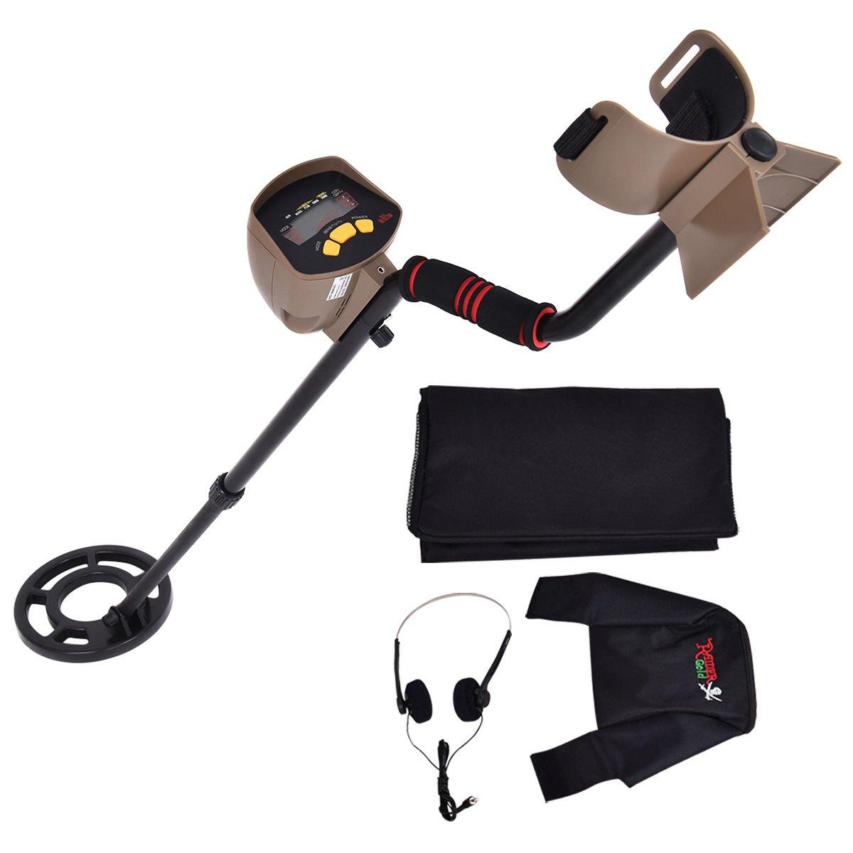 Goplus Waterproof Metal Detector 8.3'' Depth Sensitive Underground Gold Search w/ Headphones & Backpack MD-6200