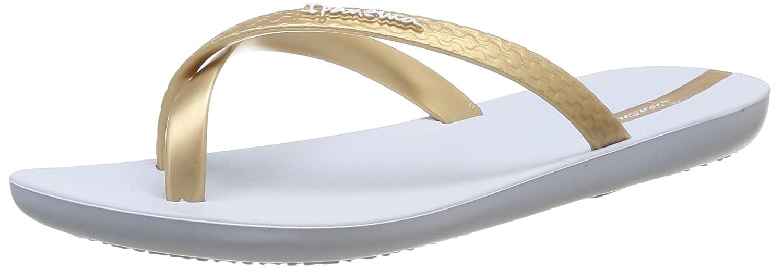 Ipanema Mix Color, Damen Zehentrenner  39 EU|Wei? - Blanc (23144 White/Gold)
