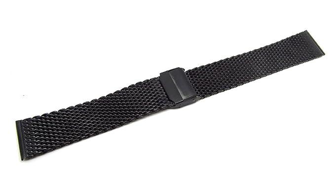 22 mm banda de reloj de acero inoxidable correa de malla ...