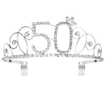 frcolor Corona para cumpleaños 50 años diadema diadema ...