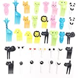 (Set of 36)Lovely Animal Food Fruit Picks Forks Bento Box Lunch Box Decor Animal Farm Mini Cartoon Toothpick Bento Lunch Decorative