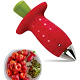 Strawberry Huller Berry Stem Leaves Huller Gem Remover Removal Fruit Peeling Tool Kitchen Accessories