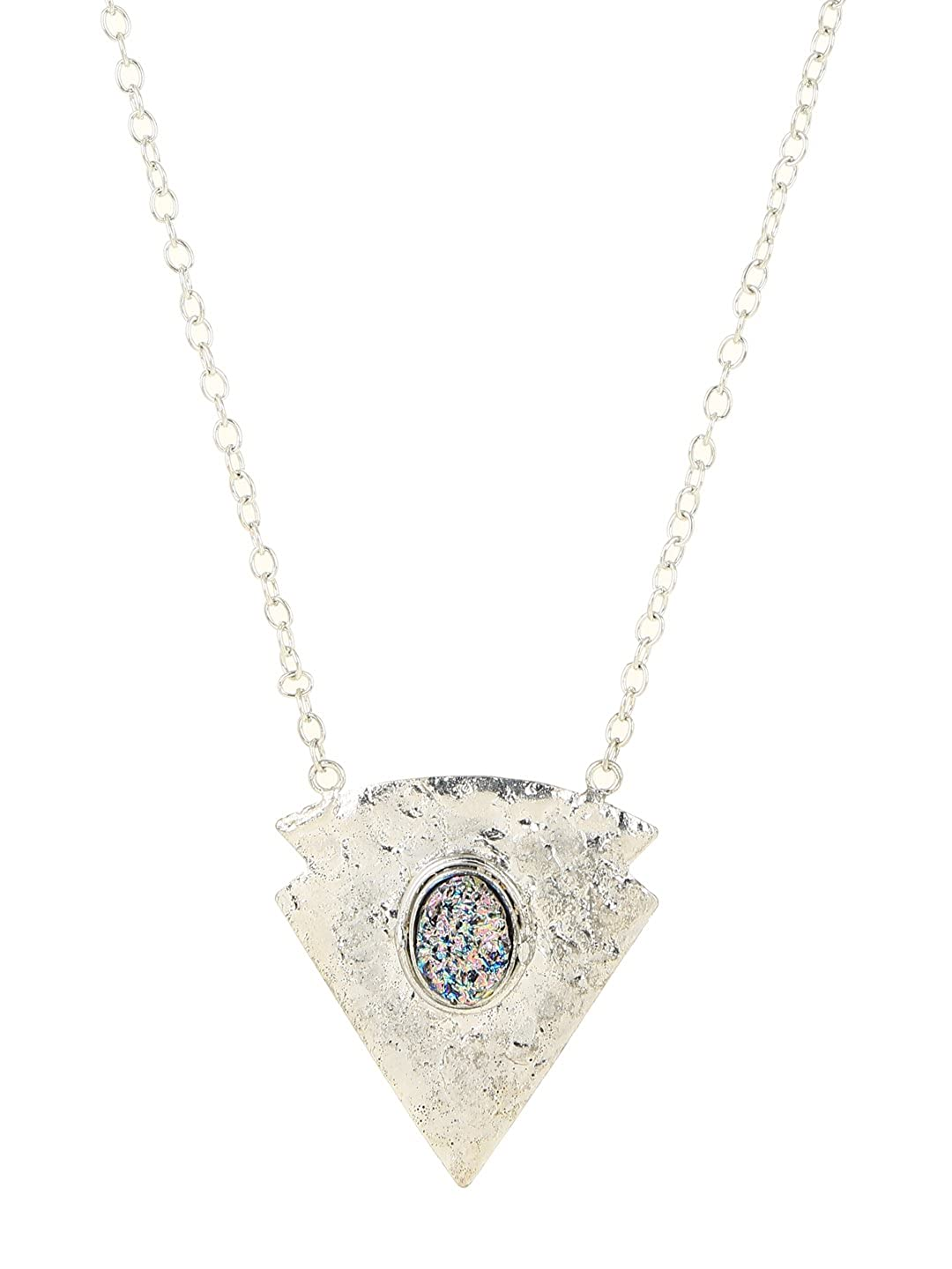 zerokaata Inverted Triangle Chain Necklaces for Women