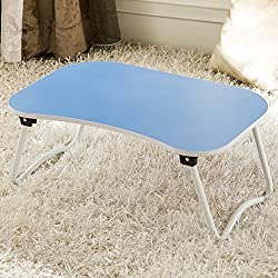 Met Life - Portable Lap Desk With Foldable Bottom, W Shape Legs Perfect For Station Your Laptop Tablet on Your Bed | Baby Blue