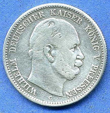 Orig Silbermünze 2 Mark 1876 C Preußen Wilhelm I Erstes Prägejahr