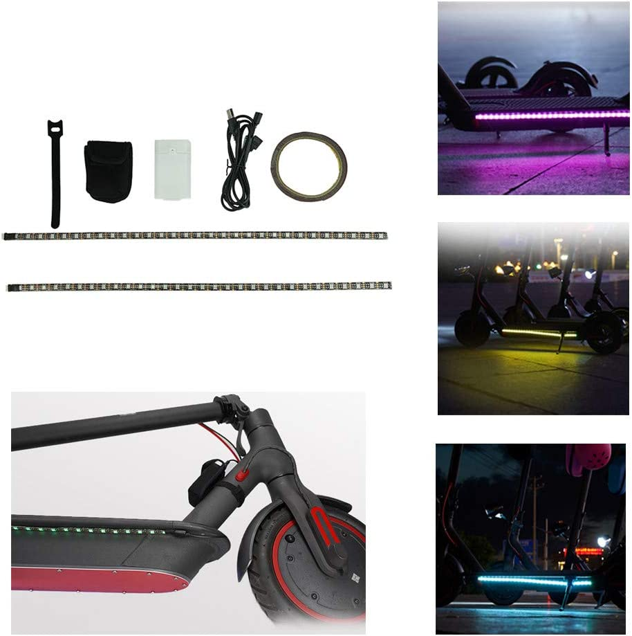 SimpleMfD Night Light LED Strip para Xiaomi M365 Scooter eléctrico Skateboard Flashlight Bar Lamp