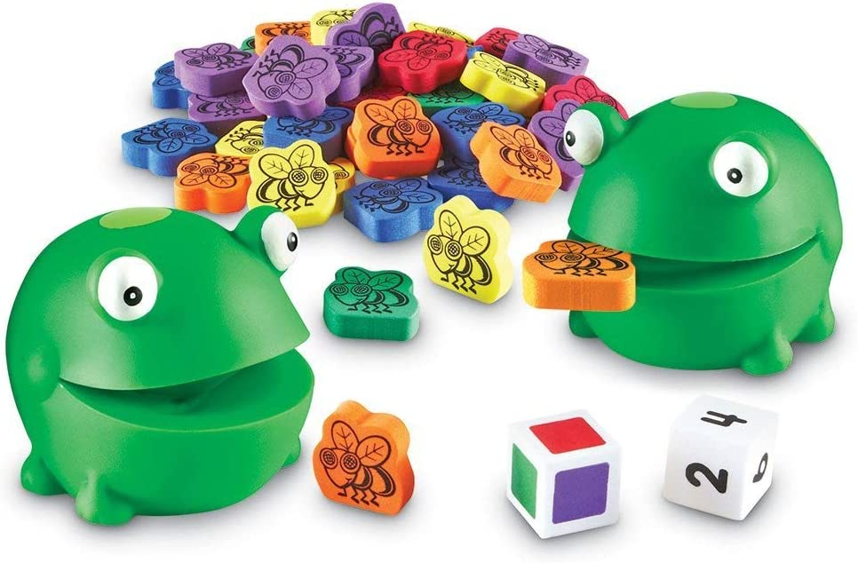 Learning Resources Froggy Feeding Fun Activity Set, Fine Motor Toy, 65 Pieces, Ages 3+
