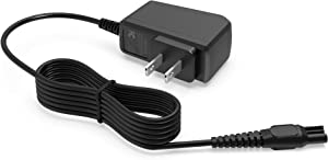 AC Charger Fit for Philips-Norelco Electric Shaver AT830 S1560 S5590 S6880 S8950 3100 4500 Multi Groomer MG5750 MG5760 MG7750 MG7770 Body Groomer Power Supply Adapter Cord