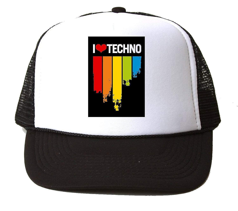 KRISSY I Love Techno Music Rave Raver Baseball Cap Hat Gorra ...