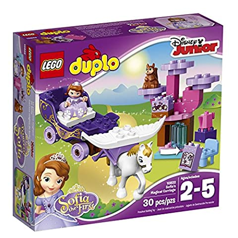 LEGO DUPLO l Disney Sofia the First Magical Carriage 10822 Large Building Block Toy for 2- to (Lego Junior Princess)