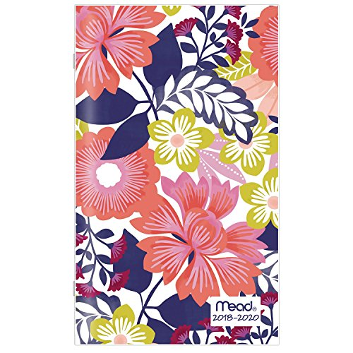 Mead 2018-2020 Academic Year Monthly Planner, Pocket, 3-5/8 x 6-3/16, Floral, Design Will Vary (Acco Brands Planner)