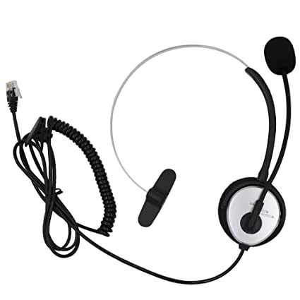Amazon Com Aoer Silver Call Service Headset With Adjustable Boom